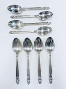 8 Royal Danish By International Sterling Silver Tablespoons Flatware