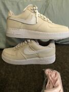 Nike Air Force 1 Miami Vice Sneakers Natural Rose 812297-100 Sz 10 W/ Receipt