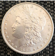 Lot Of 3 Uncirculated 1886 1887 And 1889 Us Morgan Silver Dollar Coins