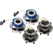 Wheel Hubs Set Of 4 Front And Rear Left-and-right 12413031 88964168 Lh Rh