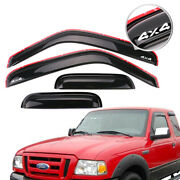 For 99-11 Ford Ranger Extended Cab Window Visor In Channel Rain Guard Deflector