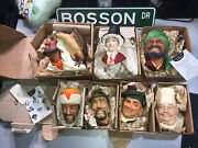 Lot Of 7 - Original Box - Collector W.. H. Bossons Vintage Heads Make Offer