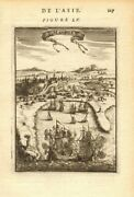 Philippines. View Of Manila. Churches Ships. And039manilleand039. Mallet 1683 Old Print