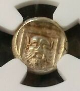 Lesbos Mytilene Dionysus Hecte W/ Satyr Ngc Au 4/4 Ancient Gold Coin