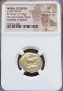 Mysia Cyzicus Ram W/ Tunni Stater Ngc Vf Ancient Gold Coin