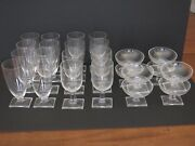 Vintage 8 Person Heisey New Era – 8x Each – Water Goblet And Iced Tea And Sherbet