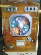 Extremely Rare Antique L. Loubet Le Poker Dand039as Coin Op French Slot Machine