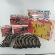 Lionel 027 Gauge Model Train Mixed Lot Tracks Trestle Freight Car Switches Vtg
