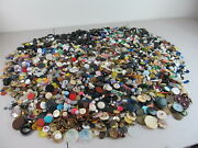 12 Lbs Vintage Sewing Buttons Lot Numerous Sizes Designs Colors