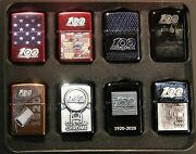Sale New Snap-on Tools Zippo Lighter 100th Anniversary Collection 8 Lighters
