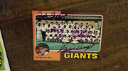 1975 Topps Giants Team Card Signed By Wes Westrum Andy Gilbert Ozzie Virgil 216
