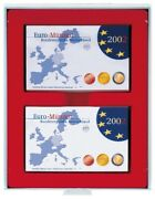 Lindner 2408 Mnzboxen Collection Boxes Red Currency Coin Sets Pf 24x Dm Kms St