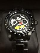 Disney Mickey Mouse Watch 25197 Menand039s Black Stainless Steel