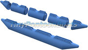 12and03911 Long 17 Diameter Mini Work Barge Plastic Float Set Hdpe Dual Nose W/foam