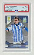 2014 Panini World Cup Prizm 12 Lionel Messi First Year Psa 10 Gem Mint 🔥