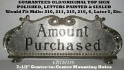 Old/orig And Rare Small Brass National Mdl 216 Candy Store Cash Register Top Sign