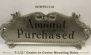 Rare Old Sm Nickel-plated Brass Nat'l Mdl 216 Candy Store Cash Register Top Sign