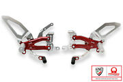 Adjustable Rearsets Easy Pramac Lim Edt Cnc Racing Silver-red Ducati Panigale V4