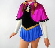 Princess Anna Frozen Girls And Adult Sized Dress And/or Cape Elsa Figure Skating