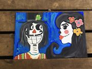 Acrylic Skeletons Day Of The Dead Canvas Paintings
