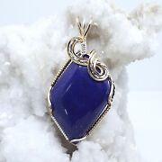 Lapis Lazuli Wire-wrapped Necklace Sterling Silver14k Gold Filled 1844
