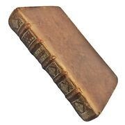 Rare Authentic 1694 Leather Bound Book Antique Decor Display Old Art Of Poetry