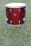 Add This Vintage Tama Imperialstar Red 18 Floor Tom To Your Drum Set Lot M499