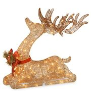 Led Lighted Holiday Reindeer Outdoor Indoor Christmas Yard Decoration Display
