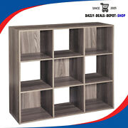 Cube Storage Organizer Stackable Shelves Home Book Shelving Heavy Duty - 9 Cube