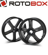 Pair Glossy Carbon Wheels Rotobox Boost 17˝x 3.5˝/6˝ Ducati Monster S4rs