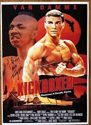 Jean Claude Van Damme And Michel Qissi Signed A3 Size Kickboxer Poster