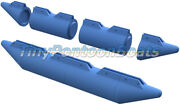 10and039 Long 17 Diameter Micro Pontoon Boat Floats Modular Plastic Floats Hdpe New