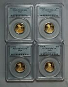 2010-w Proof American Gold Eagle 1/4 Oz. 4 Coin Lot All Pcgs Pr70