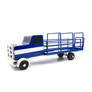 Little Buster Toys All Metal Construct Blue Cattle Truck Functioning Lift Gate