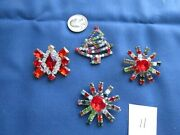 Czeck Vintage Glass/ Rhinestone Buttons Great For Antique Doll Hats Broaches Et