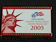 2005-s United States Us Mint Silver Proof Set—11 Coin Set W/box And Coa R