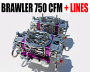 Brawler Br-67200-b2 750 Blower Supercharger 4150 Carbs Fuel Lines