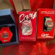 Casio G-shock X Hiroshima Carp 3types Set Watch Used Menand039s Digital Red Limited