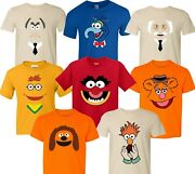 Muppets Characters Faces Birthday Halloween Christmas Family T-shirts
