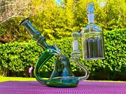 8'' Premium Glass Water Pipe Bong Super Thick Hookah W/ Cleaning Ash Catcher