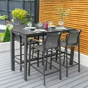 Harrier Luxury Outdoor Bar Set | 4x Bar Stools And Table | Patio/garden Furniture