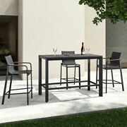Harrier Luxury Outdoor Bar Set   4x Bar Stools And Table   Patio/garden Furniture