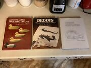 Making Carving Duck Goose Decoys Wooden Bird Lemaster Starr Casson Hardcovers