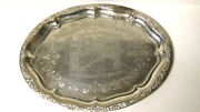 1900s Farmers And Merchants State Bank Concordia Kansas Silverplate Tray 12x16