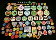 Lot Of 82 Mixed Girl Scout Brownie Cadette Badges Patches Denver Area 80's 60's
