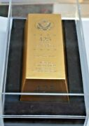 Ballistic Roll Of Never Circulated Presidential Coins 50 Gold Bar Box W/ Display