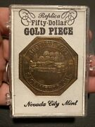 Medal Sutters Fort Fifty-dollar Gold Piece Sacramento Cal. 1850-1956. Collect
