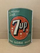 Vintage 7up String Dispenser Display Soda Country Store Kitchen Sign Rare