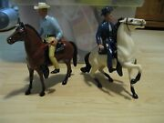 1959 - 1960 Cowboy Western Figures Rifleman Chuck Conners And Paladin On Horseback