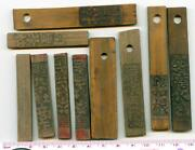Bt101 China 10 Pcs Different Standard Bamboo Tallies Tokens 1930-1940